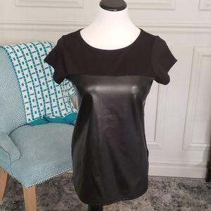 Black short sleeve zip up